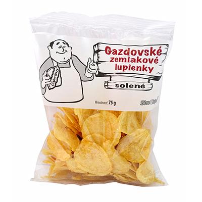 Gazdovské zemiakové lupienky soľ